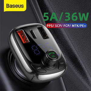 Baseus Mp3-Player Modulator Car-Kit Fm-Transmitter Auto-Charger Audio PPS Handsfree Bluetooth