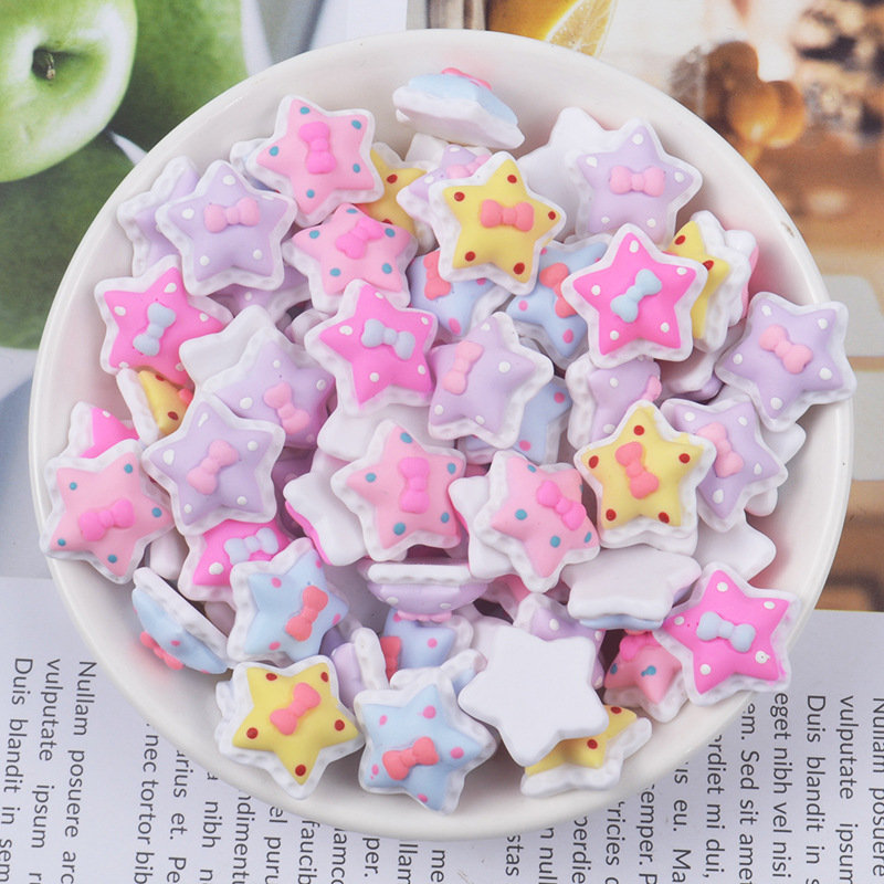 Resin Cream Stars For Fluffy Slime Charms DIY Filler Addition All For Slimes Modeling Soft Clay Supplies Toys For Children