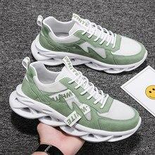 Outono nova lâmina sapatos masculinos moda confortável tênis de corrida respirável e à prova de derrapagem sapatos esportivos andando lazer shoes2021