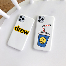 Luxury brand Justin Bieber Drew House white TPU Soft Phone Case for iPhone 5 SE 6 6S 7 8 Plus X XR XS Max 11 Pro Max cover