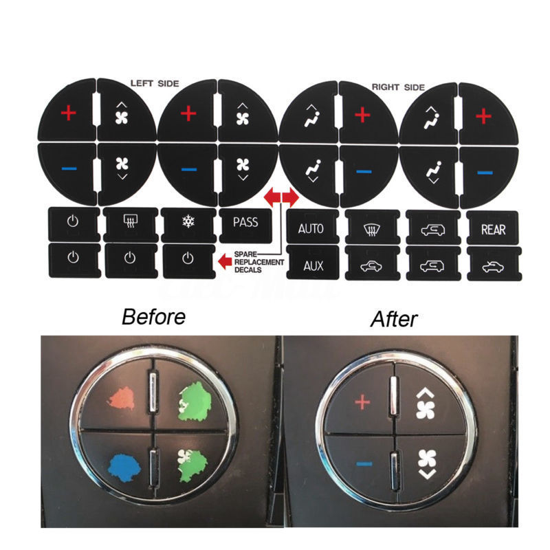 For Chevrolet GMC Tahoe Button Stickers Replacement Accessories Interior