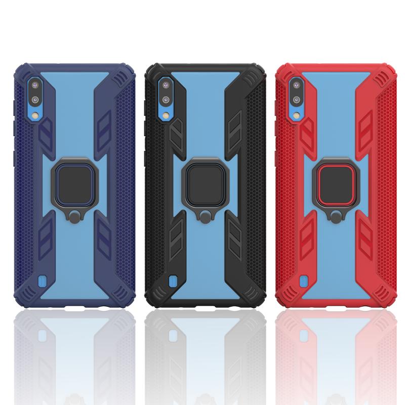 Case For <font><b>Samsung</b></font> Galaxy A10 A20 A30 A50 M10 M20 M30 A7 2018 A9 <font><b>A2018</b></font> Cover TPU+PC finger ring stand Magnet Armor soft case image