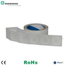 10 шт. записываемый для печати диск Клей RFID UHF тег бумажный ярлык RFID CD теги диаметром 35 мм для системы контроля доступа