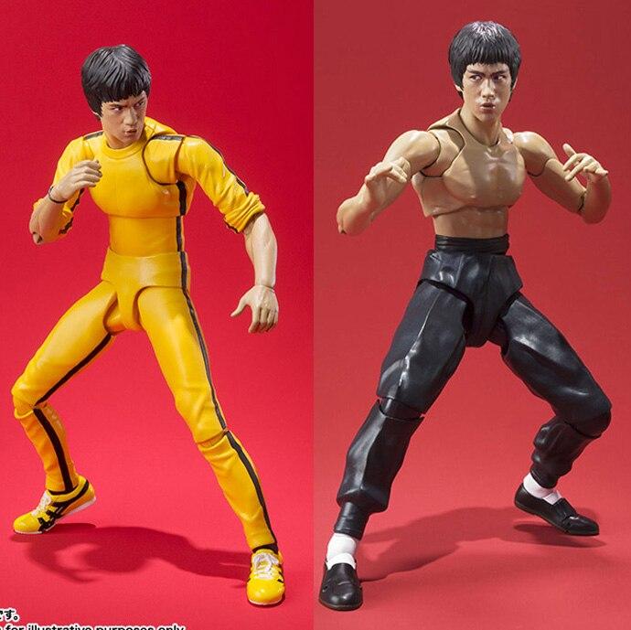 SHF 15cm Bruce Lee PVC Action Figure BJD Collection Model Toys