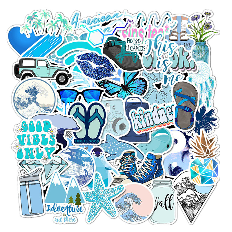 Vsco Stickers Things High Quality Cool Pink Blue Girl Stickers For On The Laptop Fridge Phone Skateboard Suitcase Kawaii Sticker