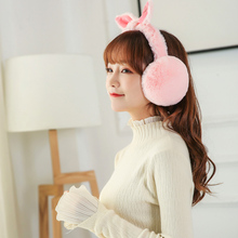 Earmuff Ears-Shape Folding Warm Winter Cute Plush Rabbit Fashion Women Hot-Sale Casual