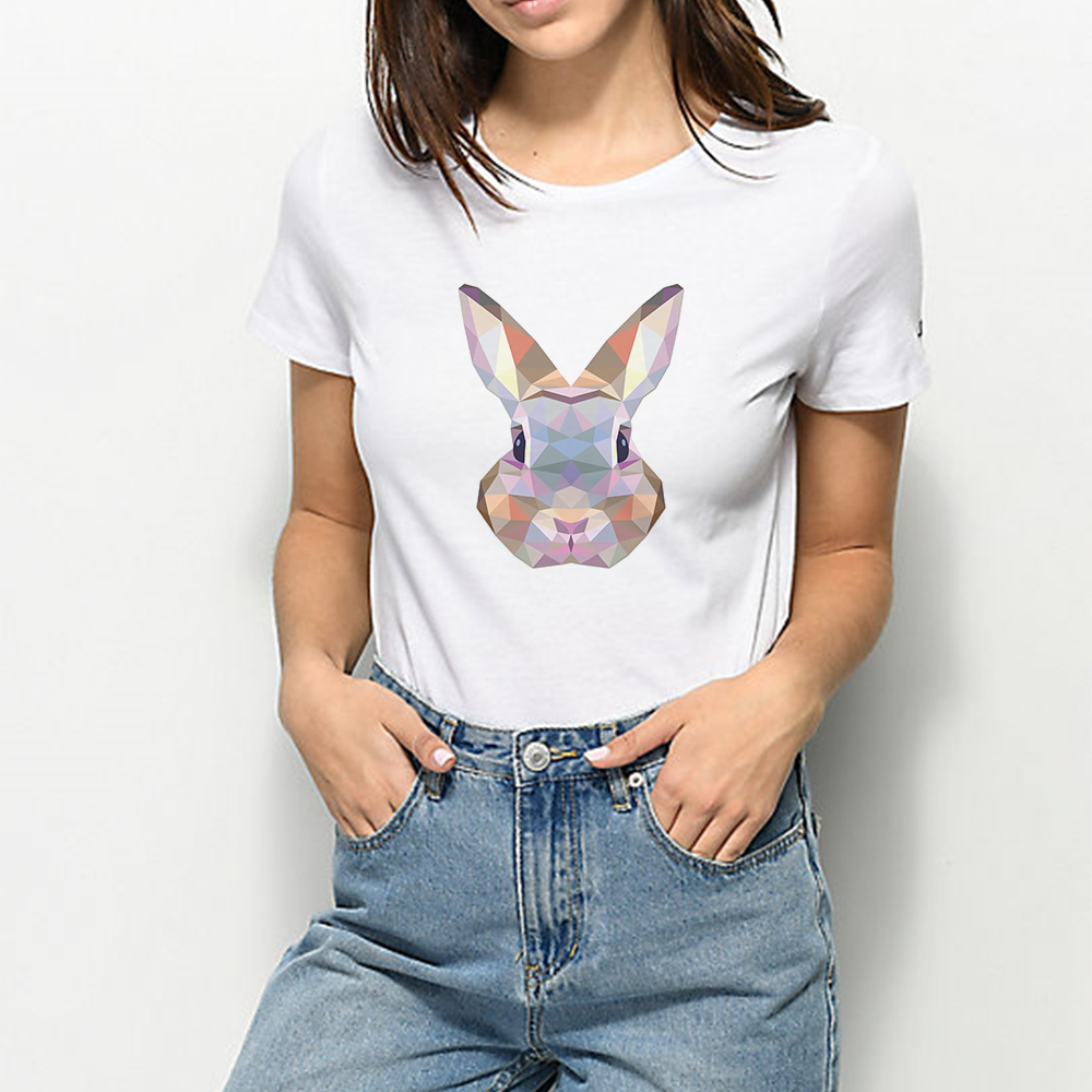 Trendy Graphic Summer Animal Tshirt Harajuku Funny Plus Size Kawaii T-shirt Loose Vintage Vogue Cute Cartoon Rabbit T shirt