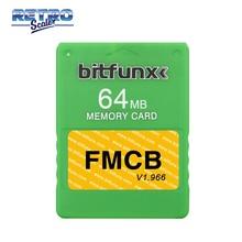 RetroScaler Colorato v1.966 FMCB Trasporto McBoot 64MB Scheda di Memoria per PS2 Console di Gioco
