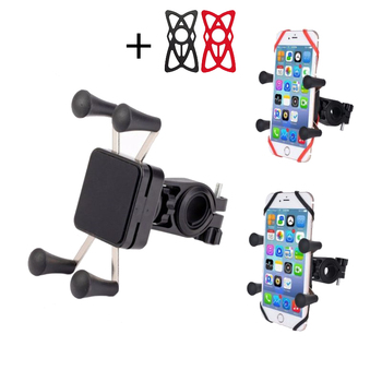 Bike X-Grip Bicycle Mobile Phone Holder Accessories Stand Support Moto GPS For iPhone X Cell Phone Motorcycle Grip Mount Holder