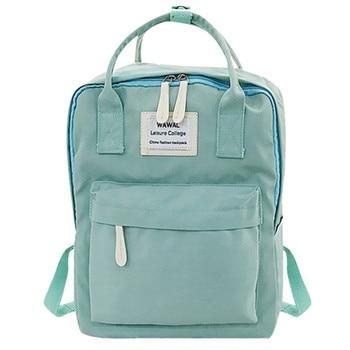 2020 New Fashion lady Student Canvas shoulder bag schoolbag bag Tour backpack bookbag  backpack women  small pink cute kawaii - Green