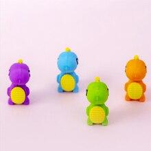 4 pcs/lot Rubber Erasers dinosaur modelling Pencil Eraser Students Stationery School Supplies For Children Kids Gift