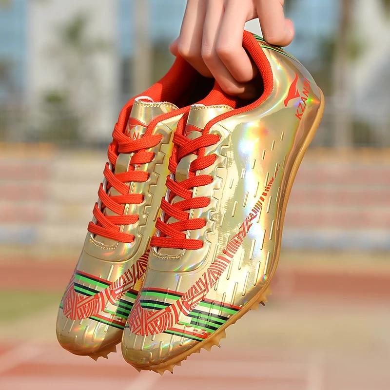 Nowe Profesjonalne Buty Lekkoatletyczne Mezczyzni Kobiety Sportowe Kolce Adidasy Do Biegania Buty Do Biegania Na Paznokciach Kolorowe Szesc Kolorow Obuwie Lekkoatletyczne Aliexpress