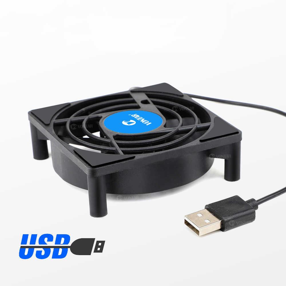 VONTAR C1 wentylator chłodzący do android tv zestaw pudełek Top Box bezprzewodowy cichy cichy chłodnicy DC 5V USB zasilania grzejnik Mini wentylator 80x80x25mm