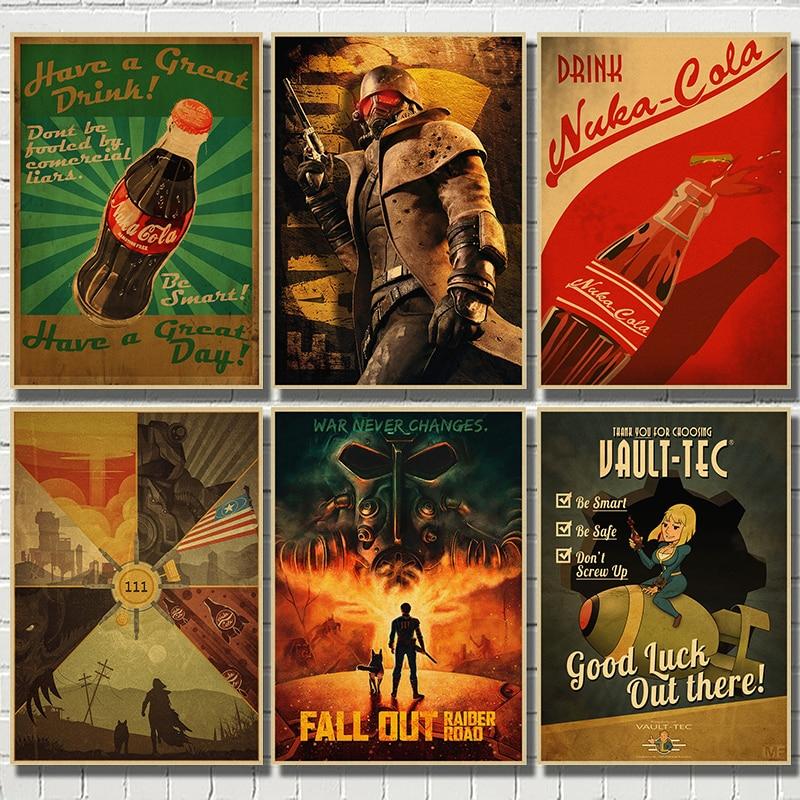 cat sunglass kraft paper bar poster retro poster decor painting wall sticker Pip