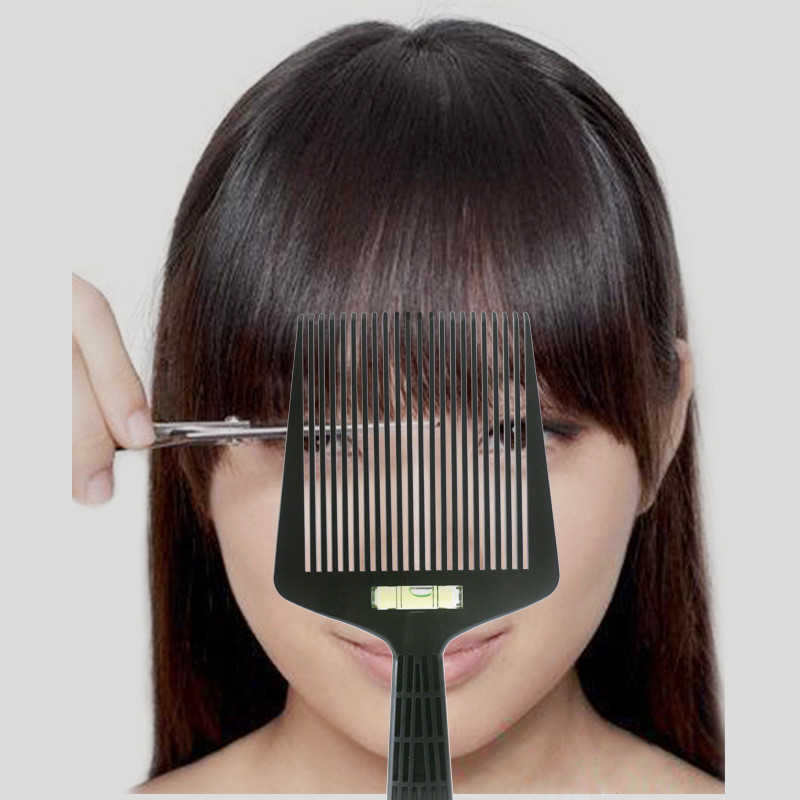 Men Hair Trimming Accessories Bubble Clipper Comb Barber Styling Dyeing Comb Anti-slide Handle Plastic Flattop Comb Man Gift