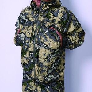 Image 4 - 2019 avcılık suiCamouflage açık ceket erkekler su geçirmez av kıyafetleri rüzgarlık ceket ceket aynı paragraf sitka