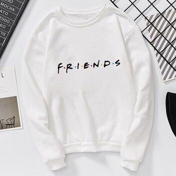 New Women Friends Printed Sweatshirts Harajuku Letters Friends Hoodies Round Neck Pullovers Femme Loose Hip Hop Sweatshirt Femme
