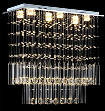 Modern crystal chandelier europe rectangle with gu10 6 lights