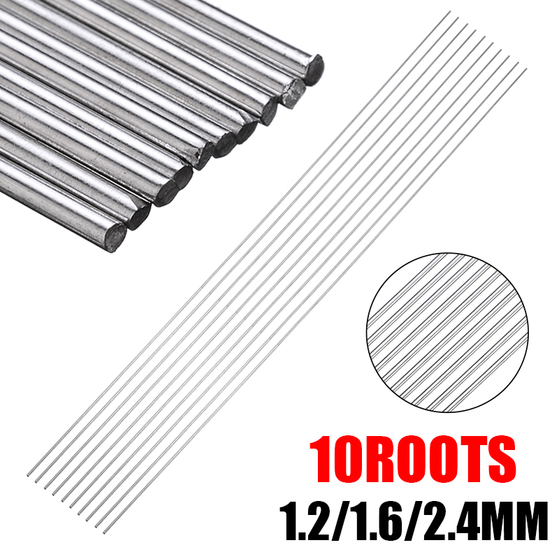 10Pcs 330mm Long 1.2/1.6/2.4mm Stainless Steel TIG Welding Rods Filler For Solder Welding Accessories