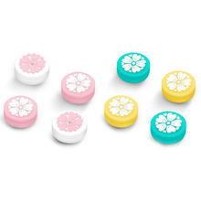 Bonito da menina flor sakura polegar vara aperto tampa joystick capa para nintend switch lite ns joycon controlador gamepad thumbstick caso