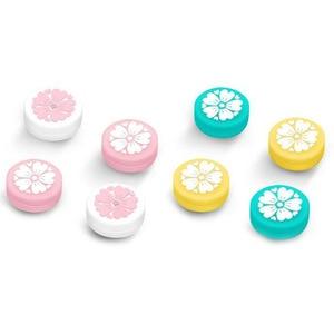 Image 1 - Cute Girl Flower Sakura Thumb Stick Grip Cap Joystick Cover For Nintend Switch Lite NS JoyCon Controller Gamepad Thumbstick Case