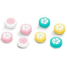 Linda chica flor Sakura pulgar Stick Grip Cap Joystick cubierta para Nintend Switch Lite NS JoyCon Controller Gamepad pulgar Stick caso
