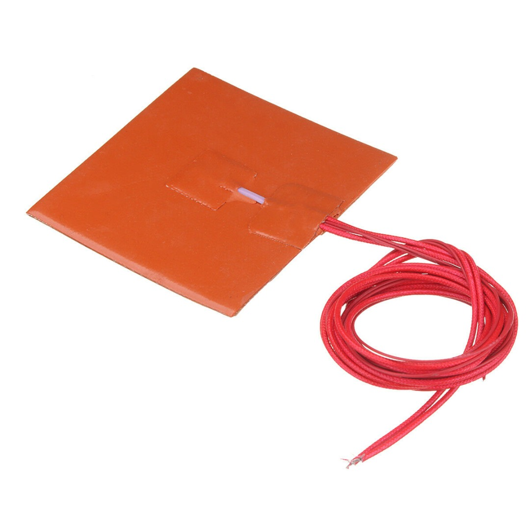 12V 50W Engine Oil Tank Silicone Heater Pad Universal Fuel Tank Water Tank Rubber Electric Heating Pads 10*10cm