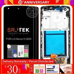 """Oryginalny 4.95 """"IPS dla lg nexus 5 wyświetlacz LCD montaż digitizera ekranu dotykowego z ramą Nexus5 D820 D821 wymiana ekranu w Ekrany LCD do tel. komórkowych od Telefony komórkowe i telekomunikacja na"""