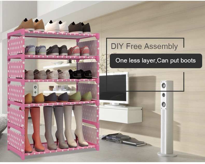 New Multilayer Shoe Cabinet Simple Assemble Shoe Organizer Rack Saving Space Living Room Furniture Storage Holder Dorm Shoe RacK