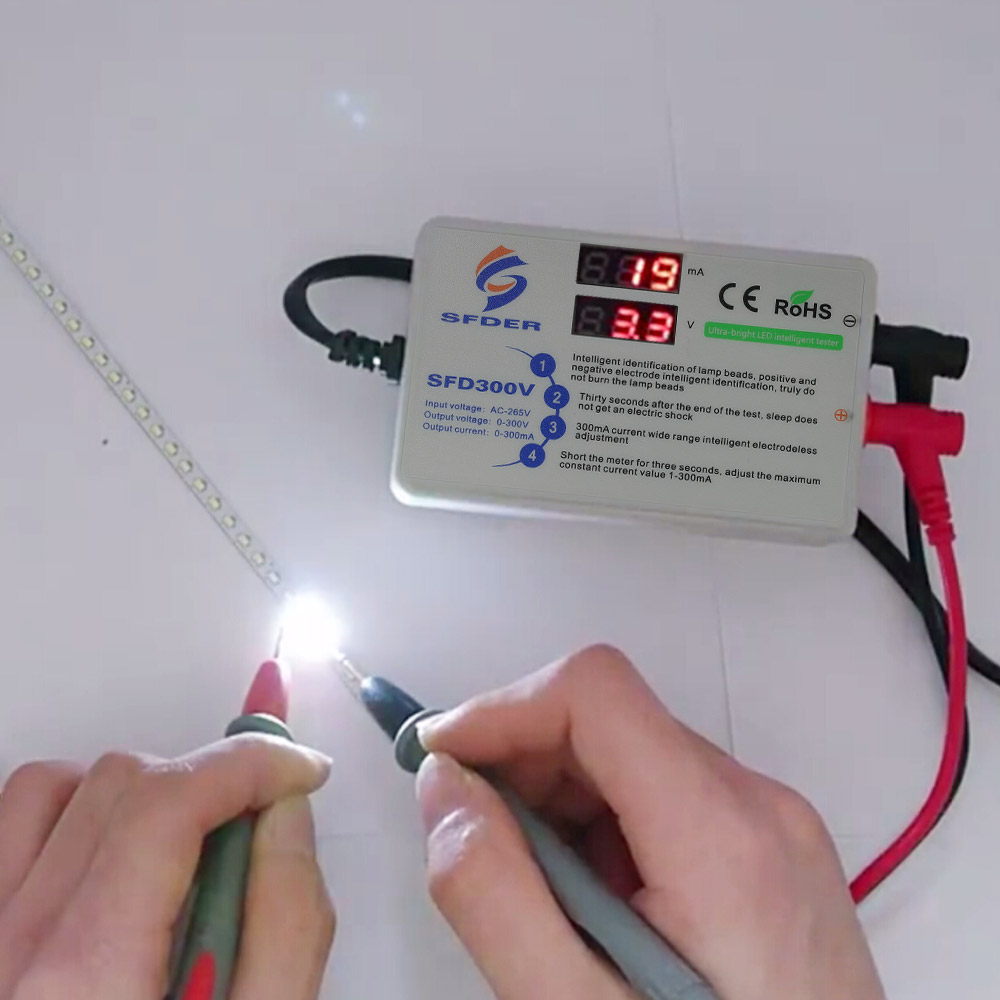 TV LED Backlight Tester Bead Diode Testing Repair Tool Voltage Current Test Beads Light Board Test Strip With Test Probe