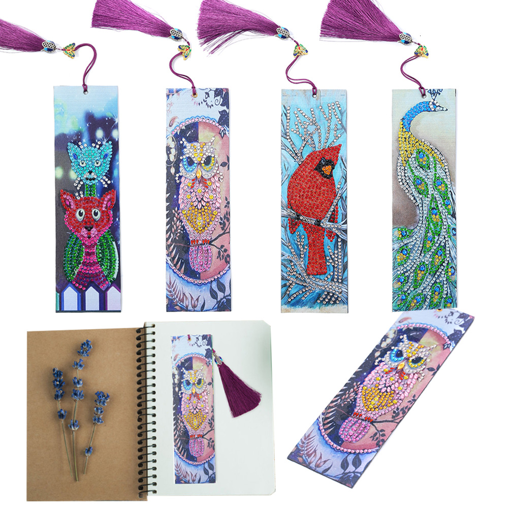 Huacan Special Shaped Diamond Painting Bookmark New Arrival DIY Diamond Embroidery Christmas Gifts