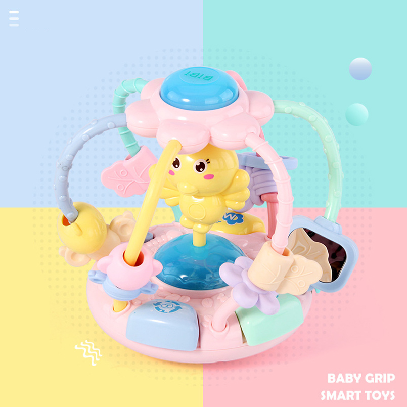 baby toys Hand drum mobile baby rattles musical story educational Round beads Hand Teether baby rattles baby toys 0-12 months