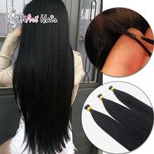 """HiArt, 1 г/локон, накладные волосы для наращивания, человеческие волосы remy, салон, двойное наращивание волос фьюжн, прямые волосы для наращивания, 1"""" 20"""" 22"""""""