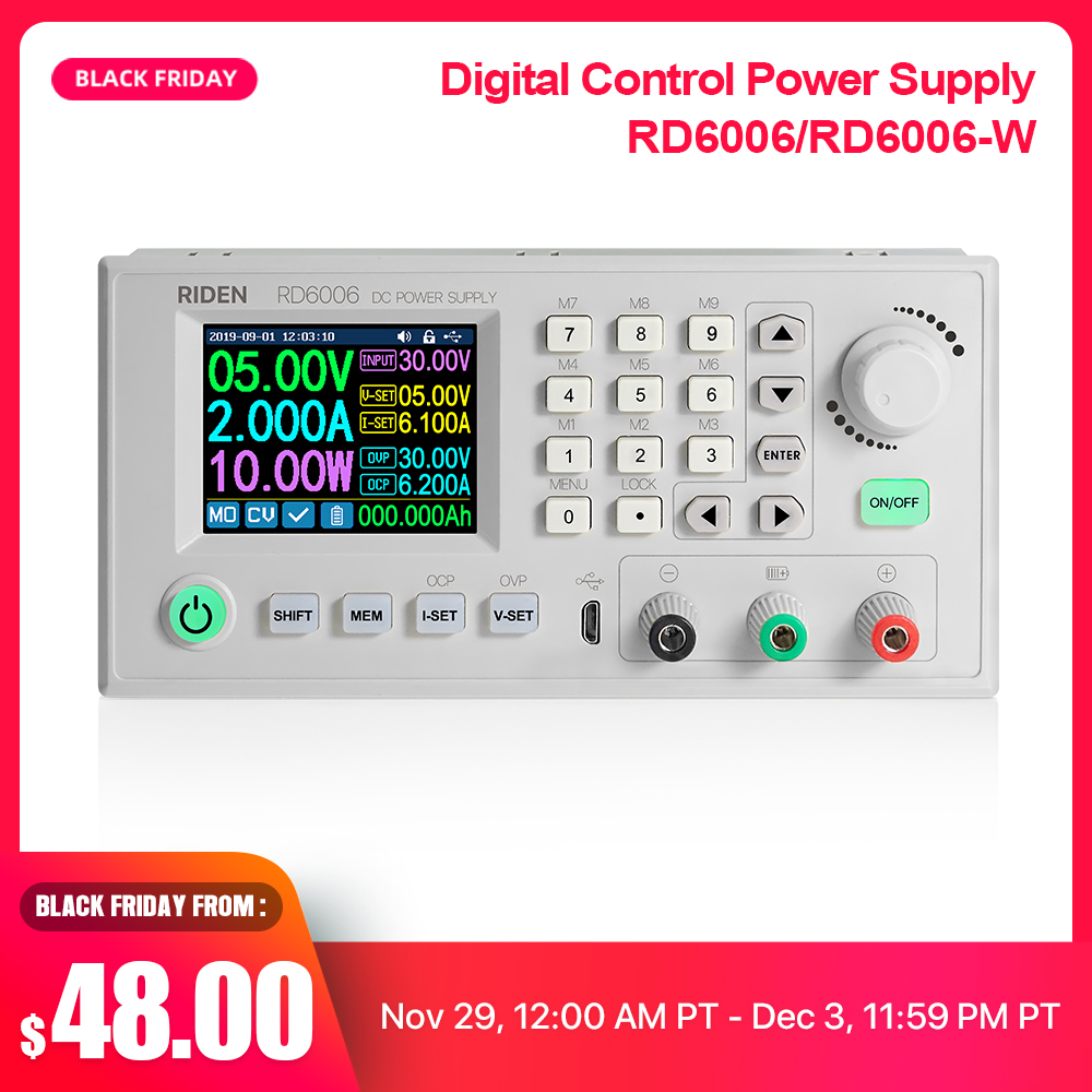 RD RD6006 RD6006W USB WiFi DC - DC Voltage Current Step-down Power Supply Module  Buck Voltage Converter Voltmeter 60V 6A