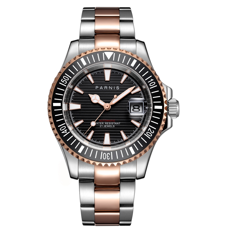 <font><b>Parnis</b></font> <font><b>40mm</b></font> Automatic Mechanical <font><b>Watches</b></font> Men Diver 21 Jewel Miyota 8215 Waterproof 5bar Sapphire Crystal Relogio Masculino 2019 image