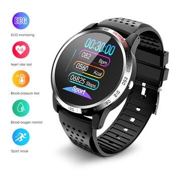 цена на Bolzlun ECG PPG HRV Smart Watch Blood Pressure Heart Rate Monitor Band IP67 waterproof Multisport Fitness tracker Smart Bracelet