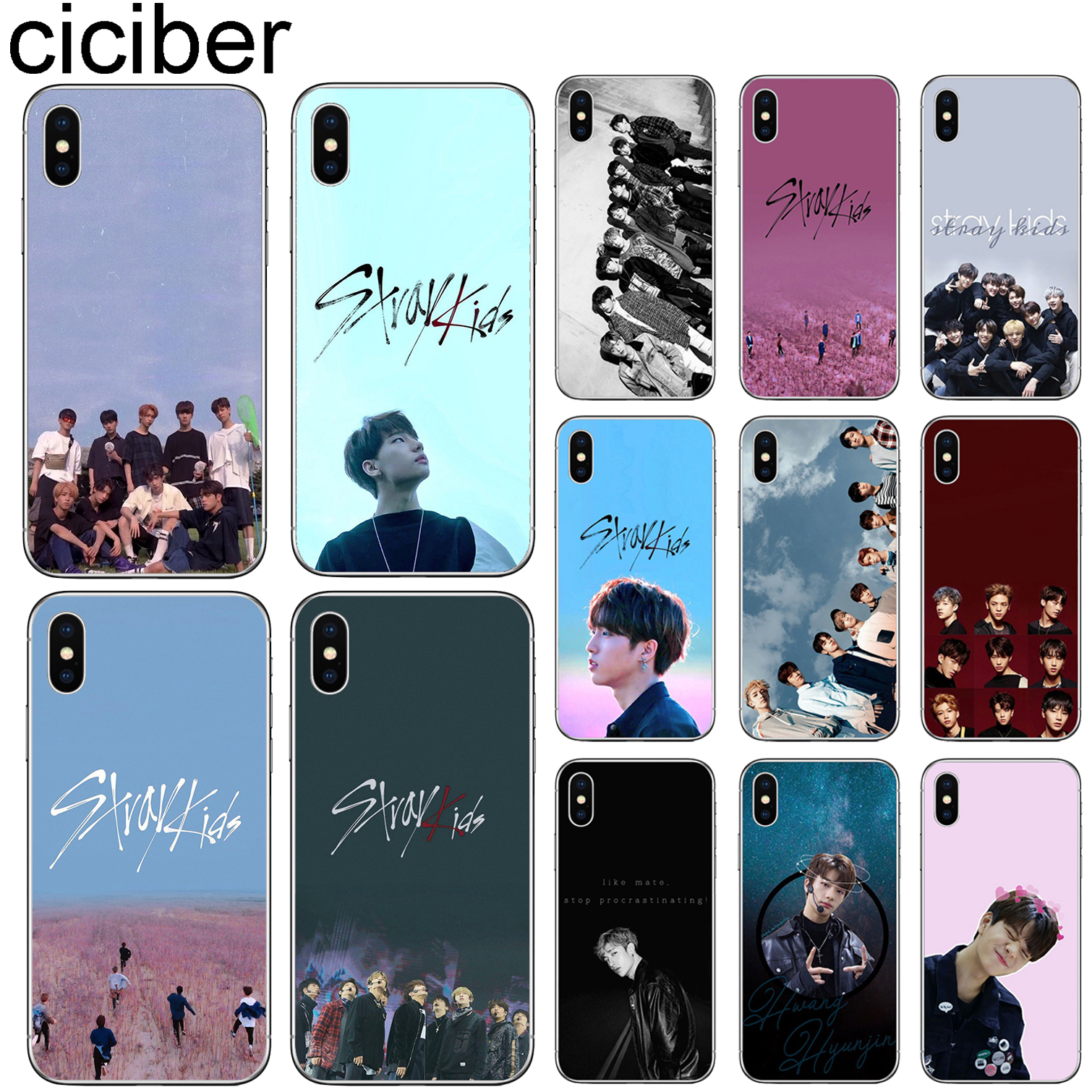 ciciber Stray Kids Cover for Iphone 7 8 6 6S Plus 5S SE 11 Pro Max Soft Silicone Phone Case for Iphone X XR XS MAX Coque Fundas