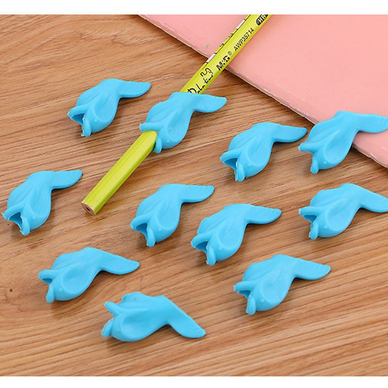 10 Pcs/lot Kids Pen Holder Silicone Baby Learning Writing Tool Correction Device Fish Pencil Writing Aid Grip Stationery