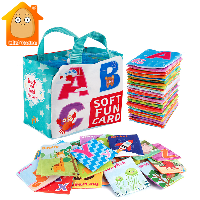 Educational Toys Learning Resources Baby Quiet Cloth Book First Kids Soft Books 0 12 Months Animal English Learning Cards Games