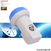 Starcom universal lnb ku banda único lnbfor dish tv por satélite reciever 1080p hd digital 3 loops alto ganho 0.1db origianl lnb