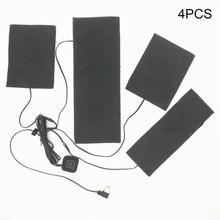 Нагревательный тканевый коврик 4 в 1 USB электрические нагревательные колодки жилет одежда Нагреватель Теплее портативный# EW