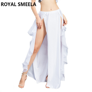 Image 5 - Hot Sale New double slit belly dancing skirts sexy swing Belly dance performance dress lotus skirt belly dance costume  6810