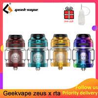 Geekvape Zeus X RTA 4.5ml/2ml tank capacity with 810 Delrin drip tip Electronic cigarette atomizer upgrade zeus dual/ AMMIT MTL