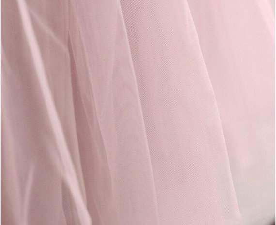 Light Pink Tulle Lace Fabric