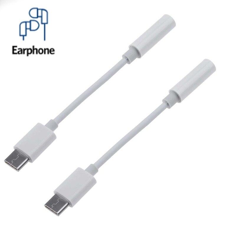Аудиокабель для наушников с разъемом USB Type-C 3,5 мм, Aux, для Xiaomi, Huawei, адаптер для наушников 3,5 мм для смартфонов типа C, без 3,5 мм