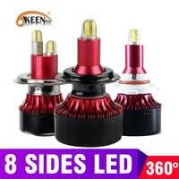 OKEEN 8 seiten CSP H11 h7 H1 LED Scheinwerfer canbus keine fehler glühbirne Nebel licht H8 Turbo HB3 9005 HB4 13500LM LED Auto