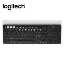 لوجيتك K780 متعددة جهاز اللاسلكية لوحة المفاتيح ل جهاز كمبيوتر شخصي هاتف لوحي كامل حجم الصامت متوافق مع ويندوز ، ماك