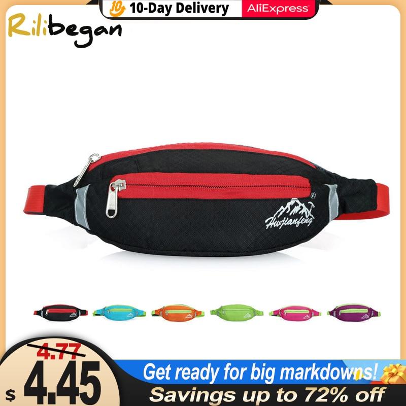 Multifunction Man Waist Bag Nylon Chest Pack for Women Running Belt Sports Bag Moblie Phone Bags Pouch Pocket Travel Chest Bag