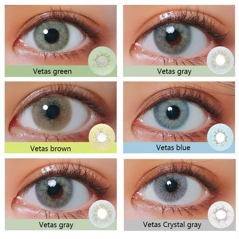 Veta Beautiful Pupil Color Contact Lenses Monthly Female Path 14.5mm Multicolor Party Cartoon Girl Decoration Cosplay Student