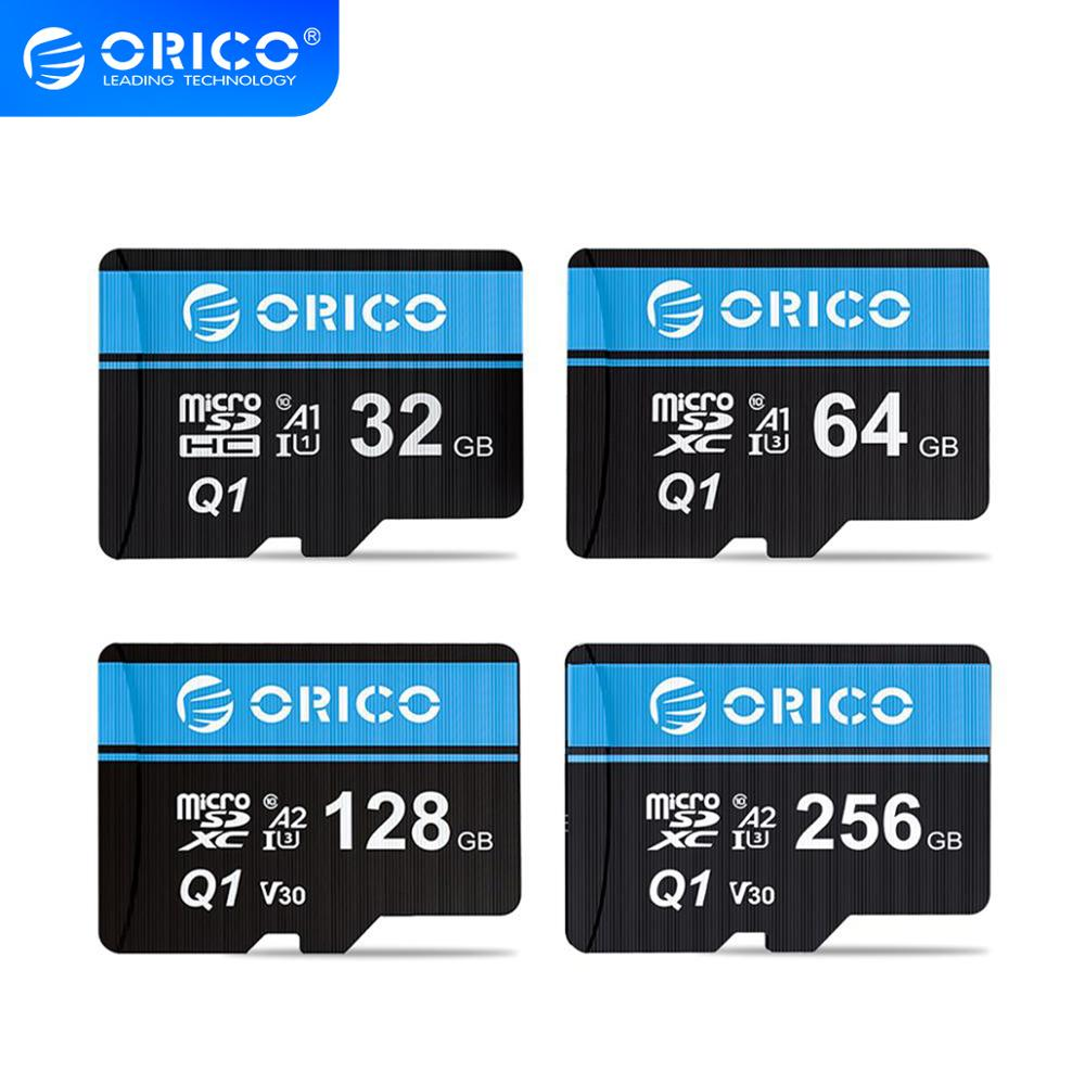 ORICO tarjeta Micro SD tarjeta de memoria 256GB 128 32GB 64GB 80 MB/S mini coche TF tarjeta Micro sd Class10 flash tarjeta de memoria TF Tarjeta de 32GB